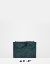 Whistles Exclusive Leather Coin Purse In Forest Green Forestgreen