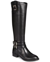 Inc International Concepts Frankii Riding Boots Only At Macy's Women's Shoes Black Cognac