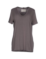 .. Merci Topwear T Shirts Women Grey
