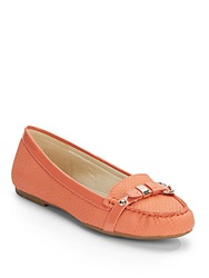 Ak Anne Klein Savina Embossed Loafers Pink