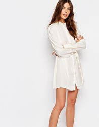 Vila Lace Back Shirt Dress White