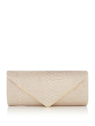 Issa Snake Flap Over Clutch Gold