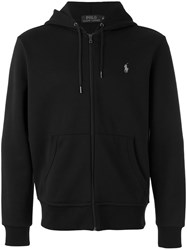 Polo Ralph Lauren Embroidered Logo Hoodie Black