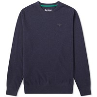 Barbour Essential Lambswool Crew Knit Blue