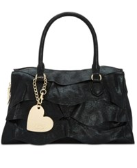 Betsey Johnson Just For The Frill Of It Large Satchel Black