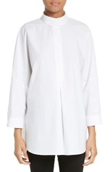 Alexander Wang Women's T By Mandarin Collar Cotton Poplin Tunic