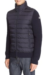Moncler Men's Quilted Down Sweater Jacket