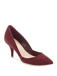 Loeffler Randall Suede Point Toe Pumps Bordeaux