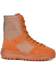 Yeezy Lace Up Boots Yellow Orange