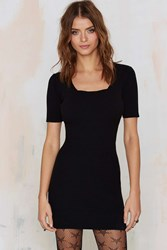 Nasty Gal Glamorous Get The Scoop Ribbed Sweater Dress
