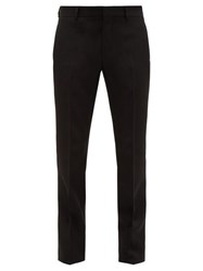 Givenchy Straight Leg Wool Trousers Black