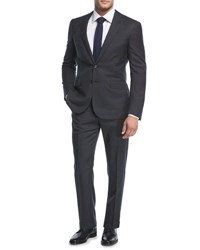Ralph Lauren Micro Neat Wool Two Piece Suit Charcoal