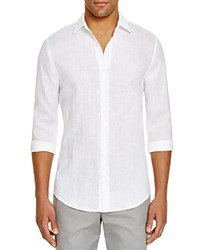Bloomingdale's The Men's Store At Linen Regular Fit Button Down Shirt 100 Exclusive White
