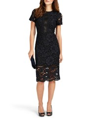 Phase Eight Darena Lace Dress Navy
