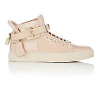 Buscemi Women's 100Mm New Button Patent Leather Sneakers Tan