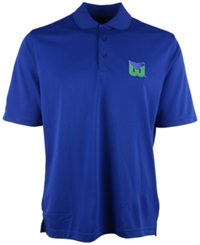 Antigua Men's Short Sleeve Hartford Whalers Polo Shirt Royalblue