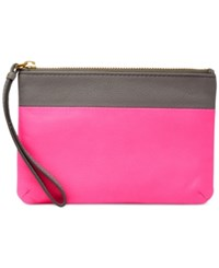 Fossil Keely Colorblock Leather Wristlet Pink Multi