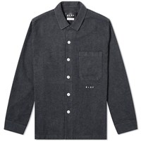 Olaf Hussein Flannel Overshirt Grey