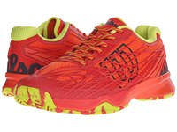 Wilson Kaos Red Solar Lime Men's Tennis Shoes