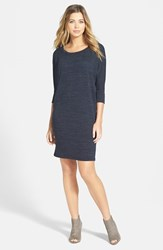Women's Bobeau Three Quarter Dolman Sleeve Sweater Dress Black