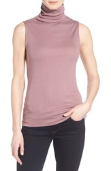 Women's Gibson Funnel Neck Sleeveless Top Purple