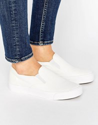 New Look Basic Canvas Slip On Trainers White