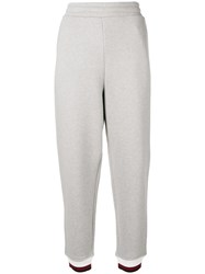 Alexander Wang T By Contrast Band Track Pants Grey