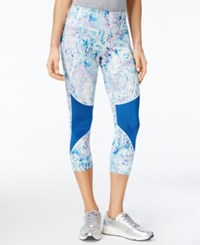 Jessica Simpson The Warm Up Juniors' Printed Cropped Leggings Only At Macy's Pool Side