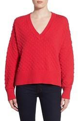 Women's 1.State Bubble Stitch V Neck Sweater