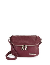Kenneth Cole Reaction Wooster Street Leather Foldover Crossbody Bag Dark Red