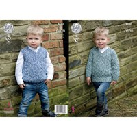King Cole Fashion Aran Combo Children's Cardigan Knitting Pattern 4630