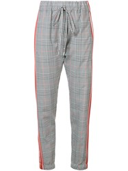 Monse Plaid Trousers Red