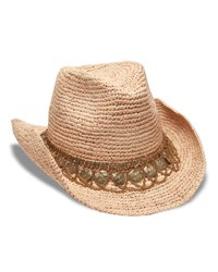 Gottex Lira Cowboy Hat W Draped Coin Chain Band Natural Go