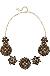 Valentino Gold Tone Crystal Necklace Metallic