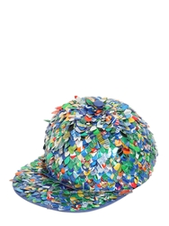 Moschino Can Sequins On Cotton Baseball Hat Multi