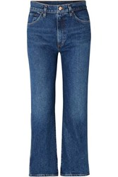 Gold Sign Goldsign The Cropped A High Rise Straight Leg Jeans Mid Denim