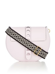 Coccinelle Carousel Foldover Stud Crossbody Bag Pink