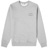 Christian Dior Cd Embroidered Crew Sweat Grey