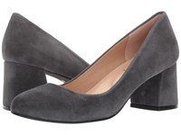 French Sole Trance Dark Grey Suede Women's Flat Shoes Gray