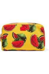 Dolce And Gabbana Printed Shell Cosmetics Case Marigold