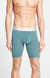 Men's Tommy John 'Second Skin' Boxer Briefs Dark Seafoam