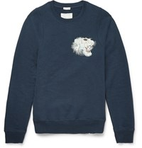 Marc Jacobs Embroidered Cotton Sweatshirt Navy