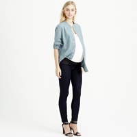 J.Crew Tall Maternity Pull On Toothpick Jean In Rinse Wash