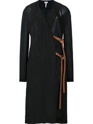 Loewe Side Tie Wrap Dress Black