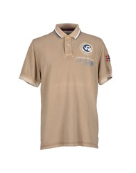 Napapijri Topwear Polo Shirts Men Khaki