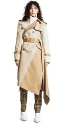 Monse Twisted Trench Khaki