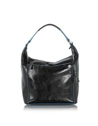 Francesco Biasia Georgia Black Leather Shoulder Bag