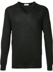 Cerruti 1881 V Neck Sweater Blue