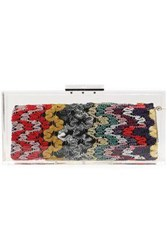 Missoni Jacquard Knit And Pvc Clutch Multicolor