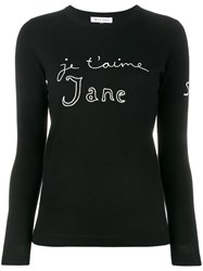 Bella Freud Je T'aime Jane Sweater Black